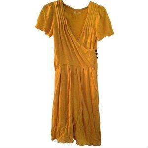 Anthropology MOTH mustard yellow dress Large